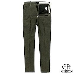 GIBBON slim fit設計款彈性休閒褲‧卡其綠31-42