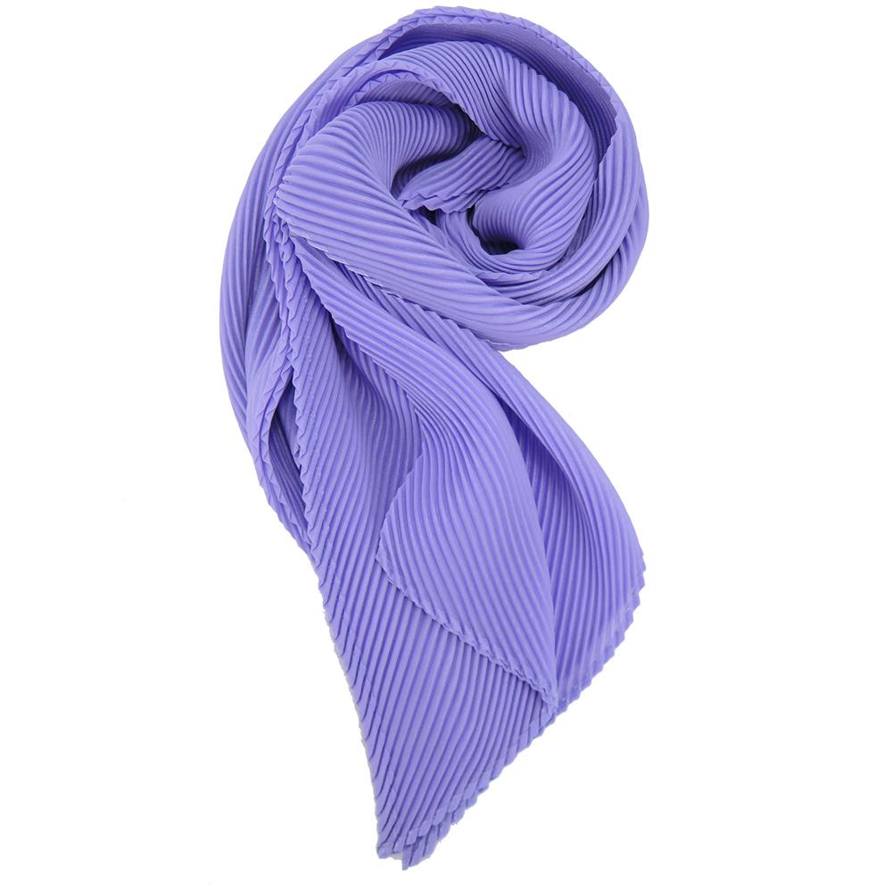ISSEY MIYAKE 三宅一生三宅一生 三宅一生 PP系列亮絲筆管型脖圍(紫)