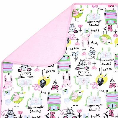 Baby unicorn 粉紅動物多功能防水隔尿墊野餐墊