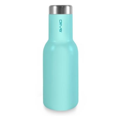 Driver時尚冷熱兩用保溫瓶380ml-粉藍
