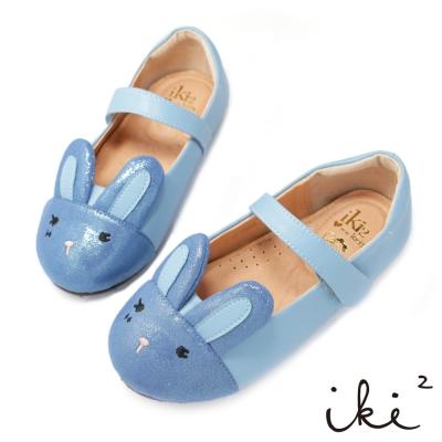 iki2童鞋-咕妮兔粉嫩配色娃娃鞋-藍