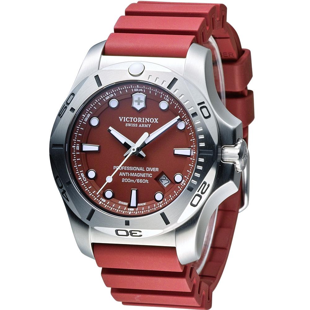 Victorinox 維氏 I.N.O.X. Diver 潛水錶-紅/45mm