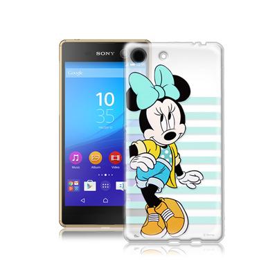 迪士尼SONY Xperia M5 E5653 街頭透明軟式手機殼(俏米妮)