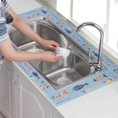 衛浴流理檯狠吸水無痕靜電貼(140X8CM)