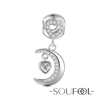 SOUFEEL索菲爾 925純銀珠飾 心月 吊飾