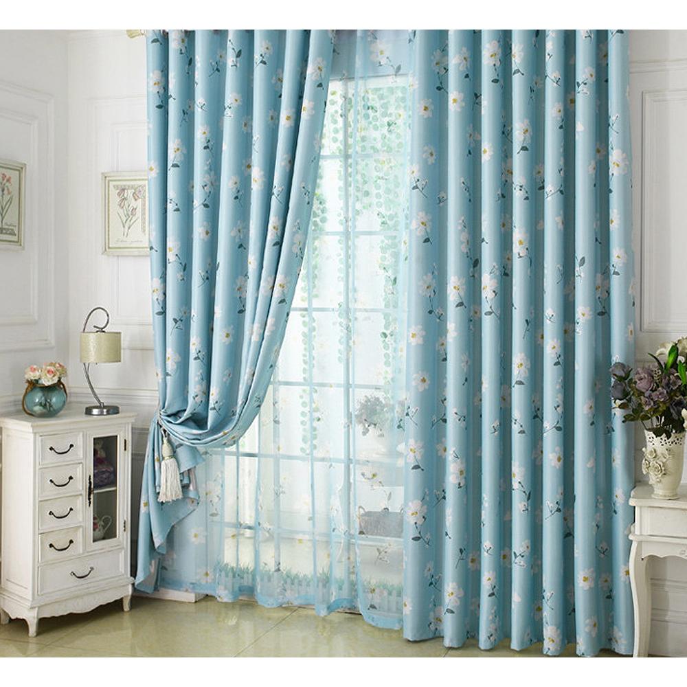 布安於室-思琪爾遮光單層窗簾-藍色-寬140x高270cm
