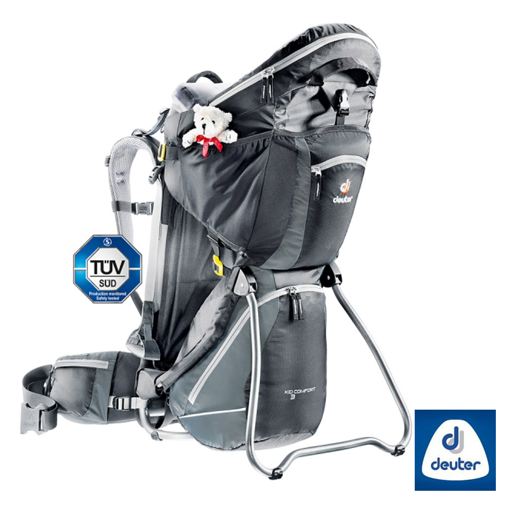 德國Deuter Kid Comfort III 18L專業輕量嬰兒背架背包黑灰
