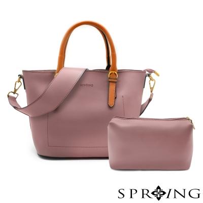 SPRING-令人忌妒的美好真皮托特包/子母包-幻境紫