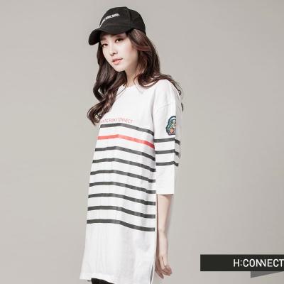 H-CONNECT-韓國品牌-女裝-浪漫龐克七分袖