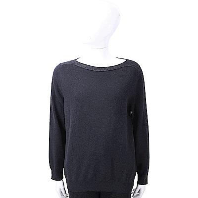 FABIANA FILIPPI 喀什米爾金蔥細節深藍美麗諾羊毛衫