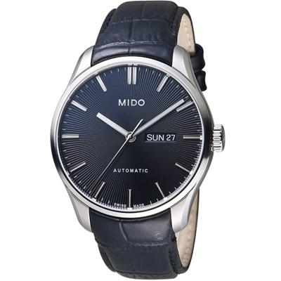 MIDO美度錶 Belluna Gent系列時尚紳士腕錶-黑色/42mm