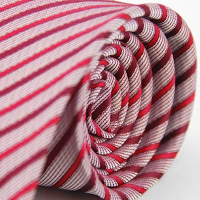 Alpaca 紅色斜紋領帶