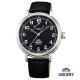ORIENT 東方錶 動力儲存系列 復古手動上鍊機械錶-黑/40mm product thumbnail 1