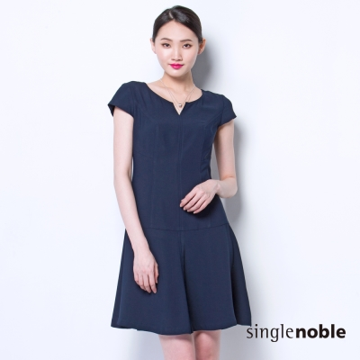 獨身貴族 非凡氣質魚尾裙設計短袖洋裝(2色)
