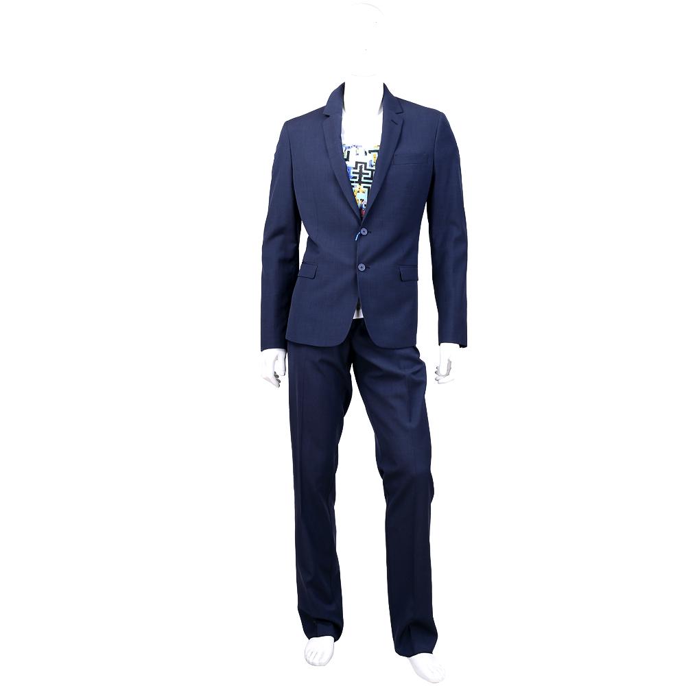 VERSACE 深藍色雙釦設計成套西裝