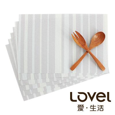 LOVEL 英倫手作風編織感餐墊-夜光瑩萊姆(2入組)