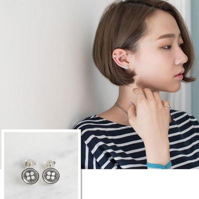 梨花HaN-韓國925銀迷你皮諾丘鈕釦迷你耳環