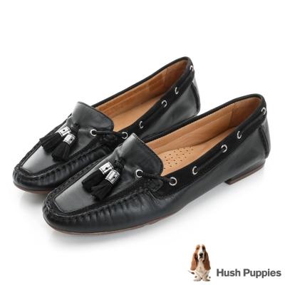Hush Puppies PRISCILLA 流蘇樂福鞋-黑色