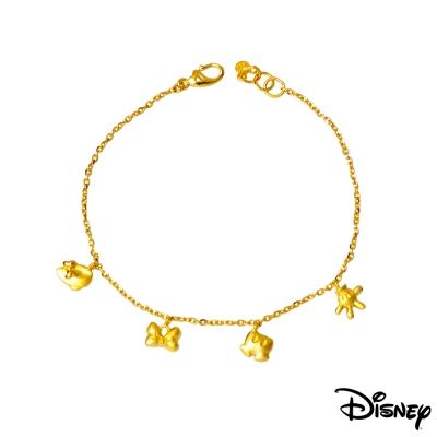 Disney迪士尼金飾 愛不釋手黃金手鍊