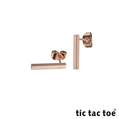 tic tac toe 垂吊式白鋼耳環系列-直線