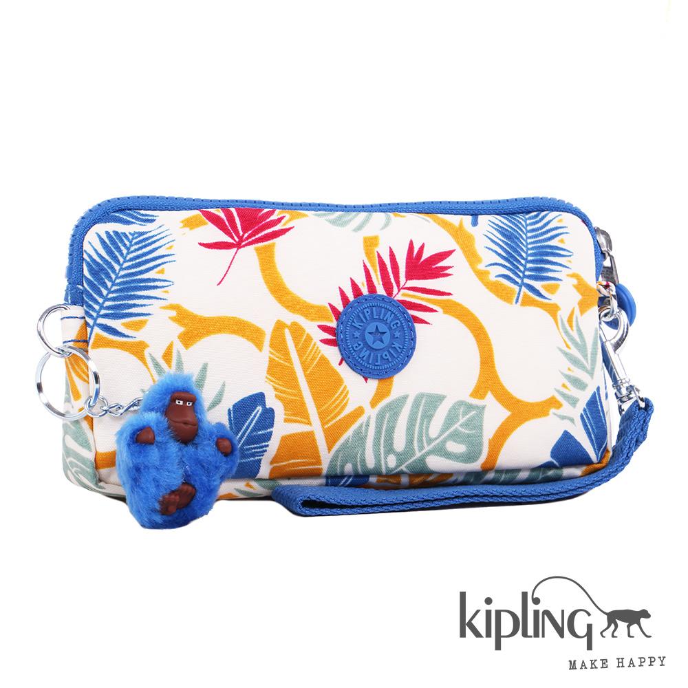 Kipling 掛繩零錢包 繽紛棕欖葉