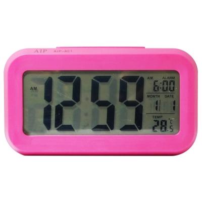 4.7吋超大螢幕智能萬年曆電子鐘 AIP-801 (粉色)