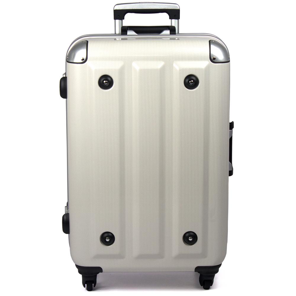 【aaronation】26吋-MOM日本品牌 PC鋁框行李箱(MF1008-26-白)