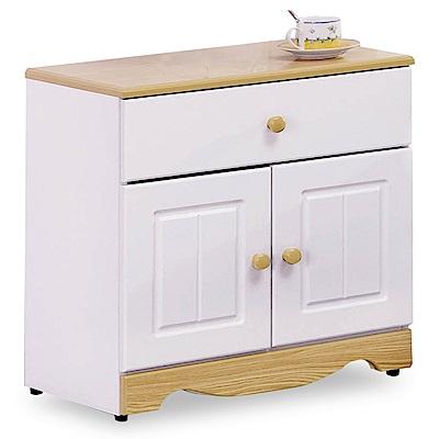 時尚屋 喬納森烤白2尺床頭櫃 寬60x深40x高64cm