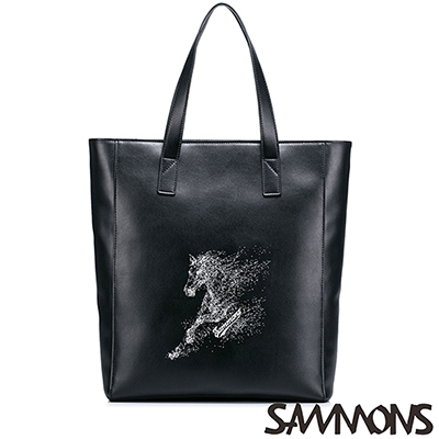 SAMMONS-艾德恩經典托特包-質感黑