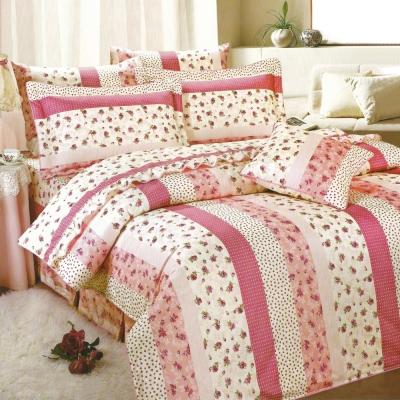 艾莉絲-貝倫 玫瑰公主 高級混紡棉 單人鋪棉床罩五件組
