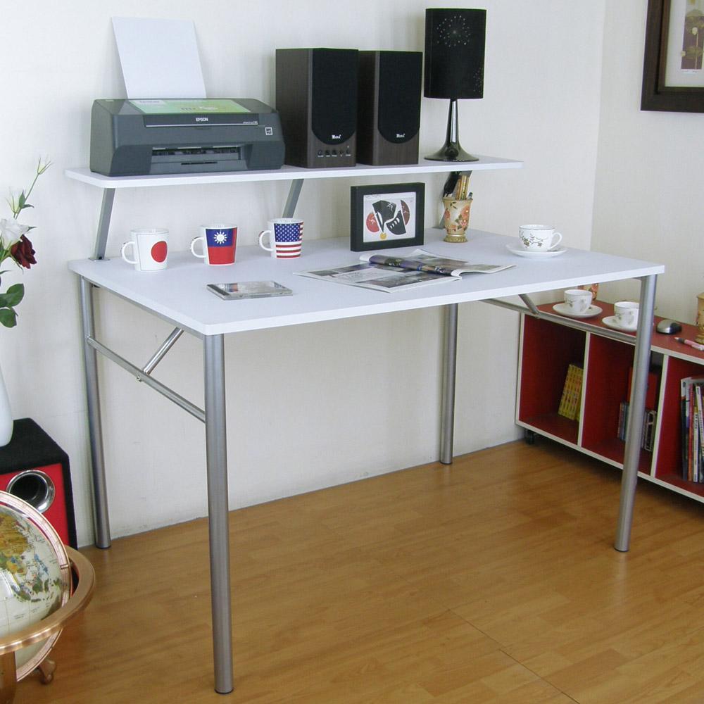 【頂堅】(桌面80x120cm)書桌(附Z型桌上架120cm/二色)
