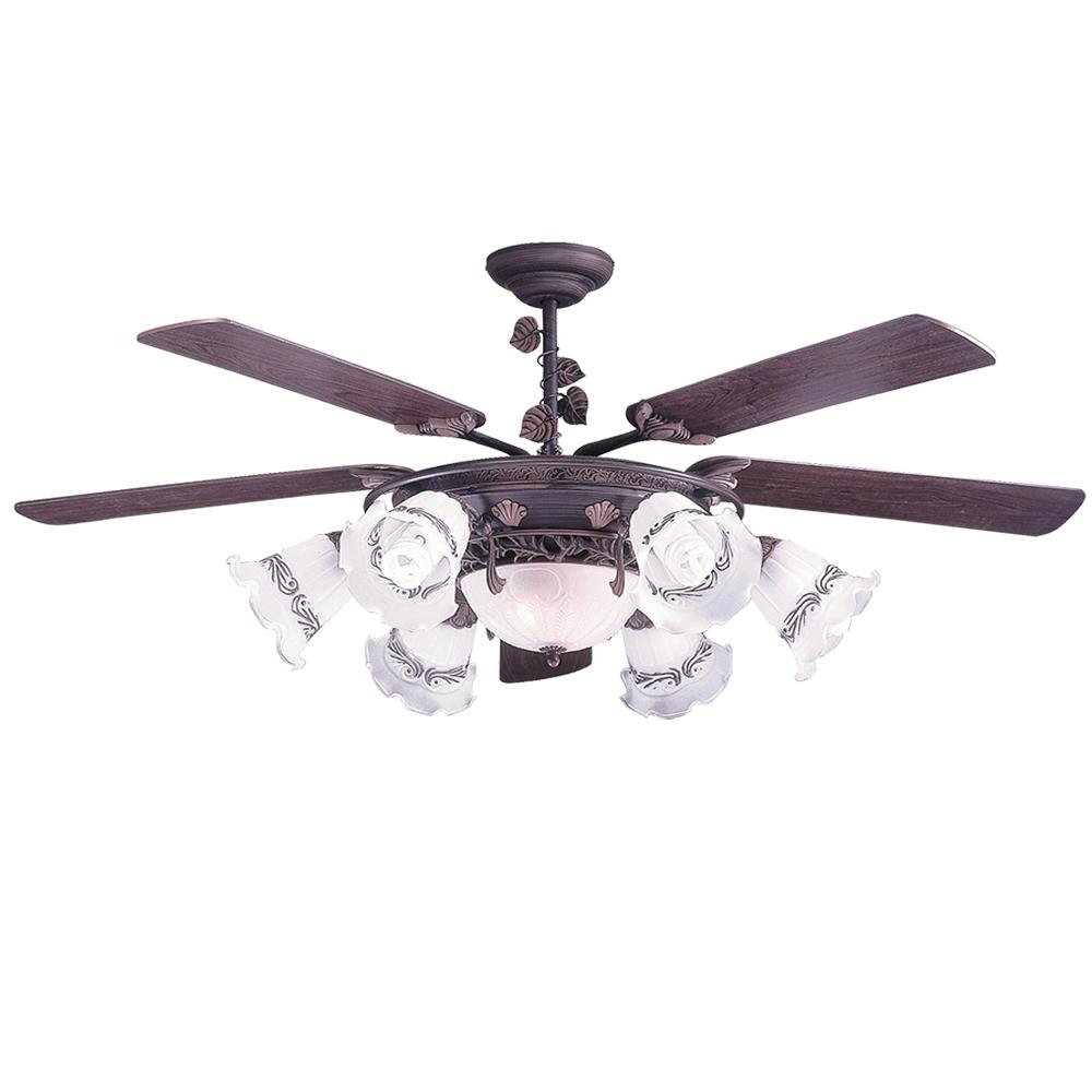 領航者 夏綠蒂60吋吊扇+多燈組-遙控款AS25G