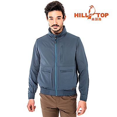 【hilltop山頂鳥】男款超輕量超潑水外套S02M92-午夜藍