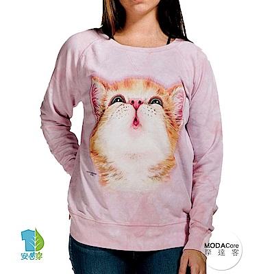 摩達客 美國The Mountain 貓咪親親 女版休閒長袖T恤