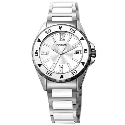 FIORUCCI 典雅時尚陶瓷腕錶(白/35mm)