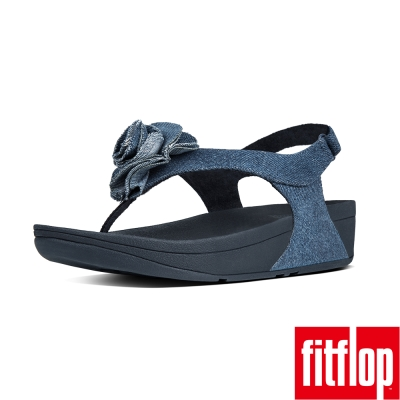 FitFlop FLORRIE PATENT BACK-STRAP-丹寧