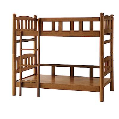 品家居 典娜3.5尺實木單人雙層床架組合-115x206x180cm免組
