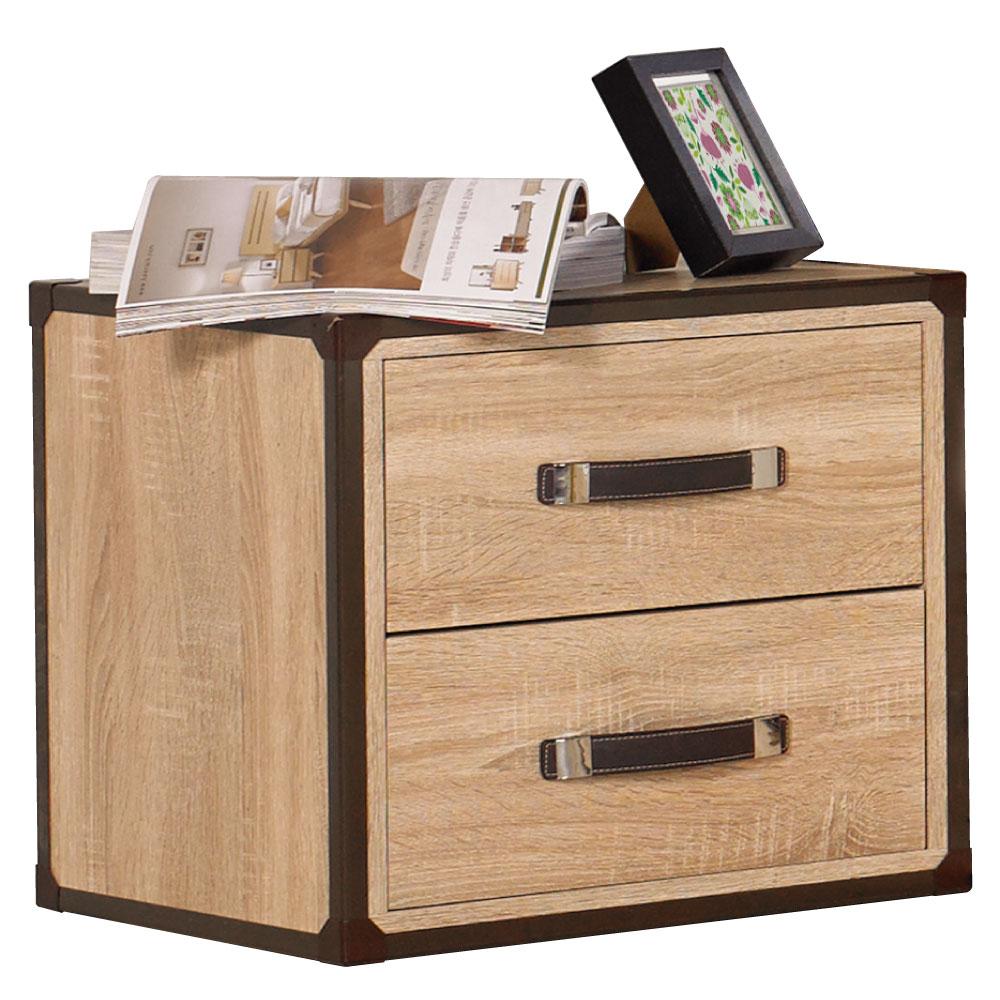 居家生活 溫德橡木紋床頭櫃