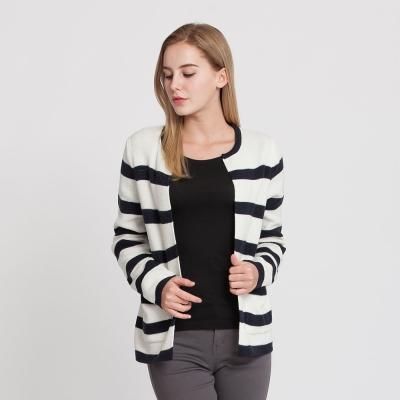 Hang Ten - 女裝 - 雙邊口袋開襟針織外套 - 條紋
