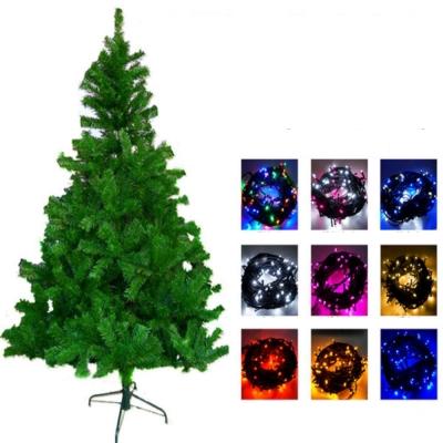 台製12尺360cm豪華綠聖誕樹(不含飾品)+100燈LED燈7串