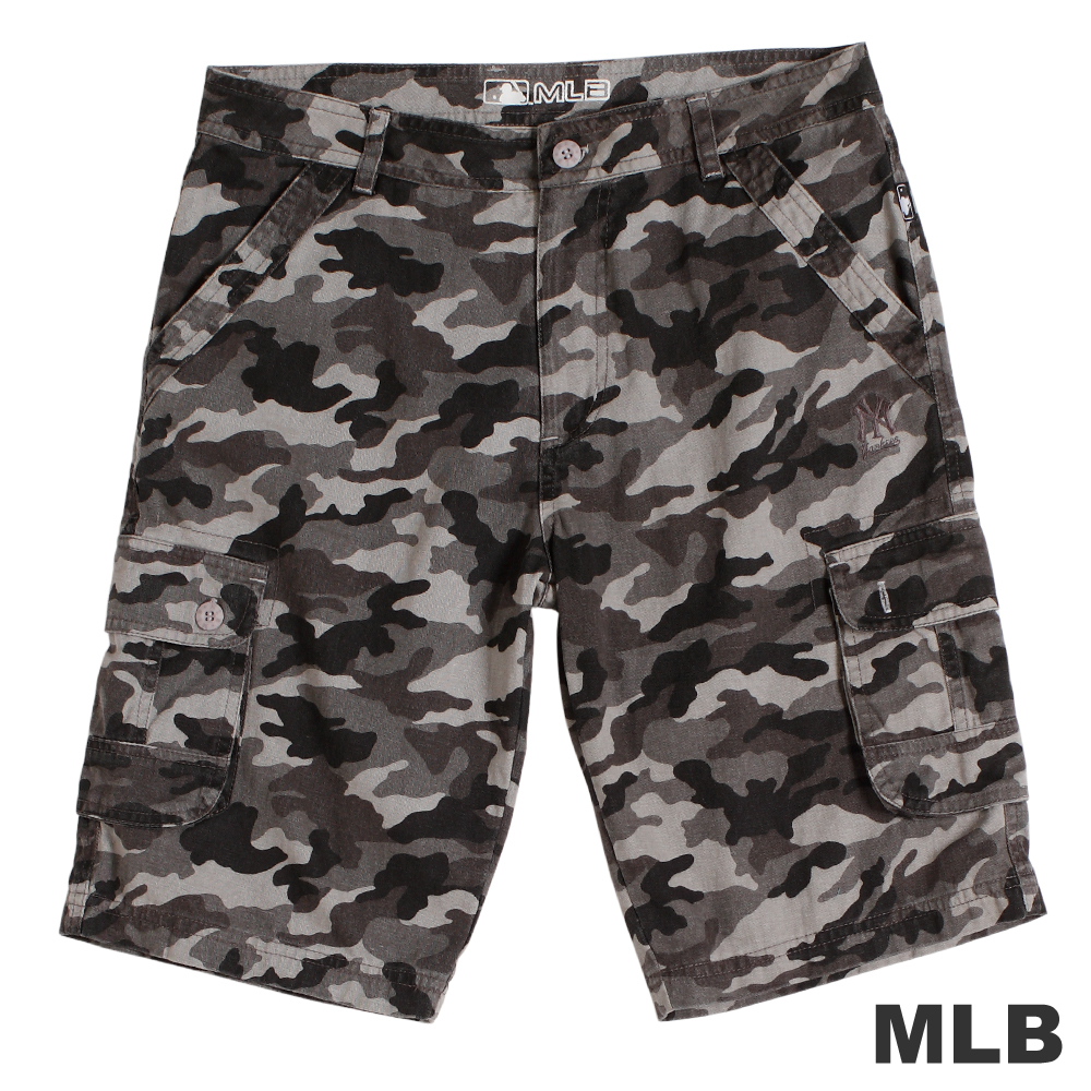 MLB-紐約洋基隊六口袋迷彩短褲-深灰(男)
