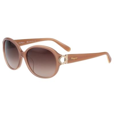 Salvatore Ferragamo- 時尚太陽眼鏡(粉膚色)