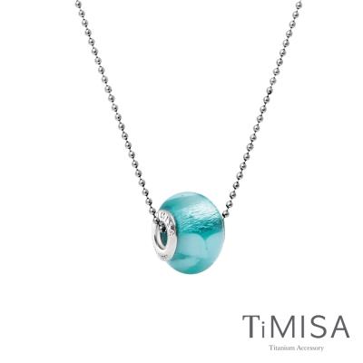 TiMISA 琉璃串珠(任選) 純鈦項鍊 (I)