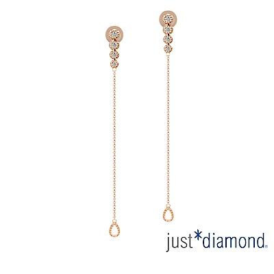 鎮金店 Just Diamond 鑽石玫瑰金 耳環-Bubbles