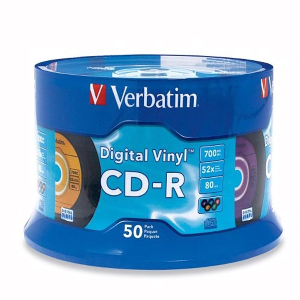 福利品 Verbatim 威寶 CD-R 700MB 52X 復古唱片版 (50片)