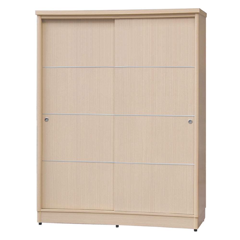 AS-亞希伯恩4尺洗白色二拉衣櫃-122x60x199cm