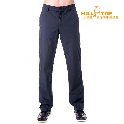 【hilltop山頂鳥】男款WS防風防小雨保暖長褲H31MK2深灰藍