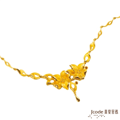 J'code真愛密碼 花舞相伴黃金項鍊-約 12 . 60 錢