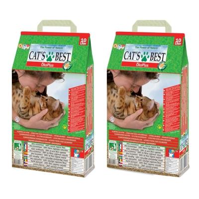 德國凱優CAT'S BEST 低粉塵細顆粒 凝結木屑砂-紅標10L X 2入