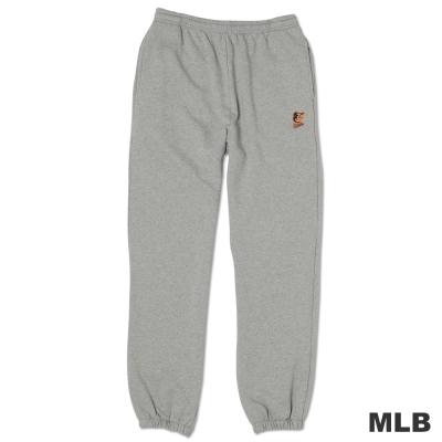 MLB-巴爾的摩金鶯隊縮口電繡厚長褲-麻灰(男)